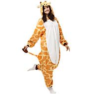 Lovely Giraffe Yellow Polar Fleece Kigurumi Pajamas Cartoon Sleepwear Animal Halloween Costume