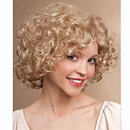 peluca corta color rubio profunda de la mujer de moda rizado
