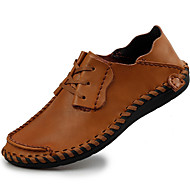 Для мужчин Туфли на шнуровке Удобная обувь Наппа Leather Осень Зима Повседневные Для вечеринки / ужина Удобная обувьЧерный Кофейный