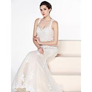 Lanting Bride® Trompeta / Sirena Vestido de Boda Corte Corazón Tul con Apliques