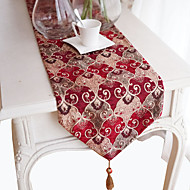 1 Mélange Poly/Coton Rectangulaire Chemins de table