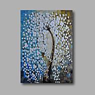 Hånd-malede Abstrakt / Blomstret/BotaniskModerne Et Panel Canvas Hang-Painted Oliemaleri For Hjem Dekoration