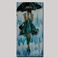 מצויר ביד Leisure / ציור אבסטרקטמודרני פנל אחד בד ציור שמן צבוע-Hang For קישוט הבית