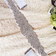 Satin Wedding / Party/ Evening / Dailywear Sash - Beading / Crystal / Rhinestone Women's Sashes