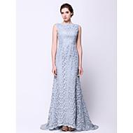 레이스와 TS couture® 공식적인 이브닝 드레스 트럼펫 / 인어 BATEAU 청소 / 브러쉬 기차 레이스