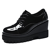 Women's Shoes Synthetic Platform Heels / Creepers Heels Office & Career / Party & Evening / Dress / Casual Black / Red