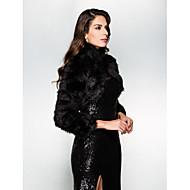 Wedding  Wraps Shrugs Long Sleeve Faux Fur Black Wedding / Party/Evening High Neck Open Front