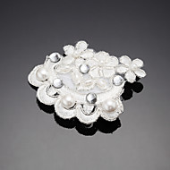 Women's / Flower Girl's Lace Headpiece - Wedding / Special Occasion / Outdoor Hair Clip 1 Piece