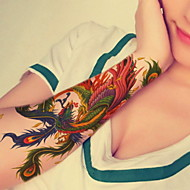 Phoenix Flower Arm  Waterproof Flower Arm Temporary Tattoos Stickers Non Toxic Glitter