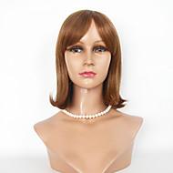 ljudske kose perika capless tamnosmeđa svijetlosmeđe kose perika