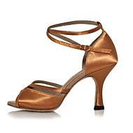 Sapatos de Dança ( Preto / Castanho ) - Feminino - Não Personalizável - Latina / Salsa