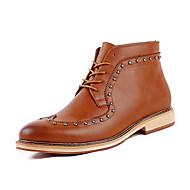 Kényelmes-Alacsony-Női cipő-Félcipők-Alkalmi-PU-Fekete Barna Vörös
