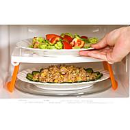 Foldable Multifunctional Microwave Steamer Rack  Refrigerator Double Storage Rack Household Holder