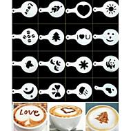 Stensil Daglig Reise Kaffe Originale Tegneserie,Plastikk