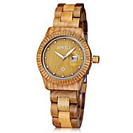 Men's Women's Unisex Wrist watch Wood Watch Chronograph Quartz Japanese Quartz Wood Band Vintage Charm Luxury Black Brown Green Khaki