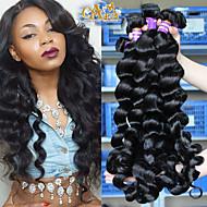 "10""-30""6A Mongolian Virgin Hair Loose Wave 4Pcs Lot Mongolian Curly Hair Weave Mongolian Human Hair Extensions"