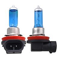 2 * h11 coche xenón halógeno faros de gas lámpara del bulbo de la luz blanca 12v 55w 5000k