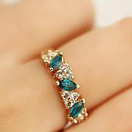 טבעות יומי תכשיטים סגסוגת אבן נוצצת נשים טבעות הצהרה 1pc,8 ירוק