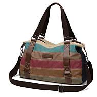 Women Canvas Casual / Outdoor Shoulder Bag / Tote / Satchel / Sports & Leisure Bag / Travel Bag Multi-color