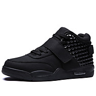 férfi cipők bőr alkalmi szabadtéri lapos sarkú horog&hurok / fűzős fekete / piros / fehér walking