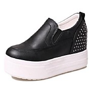 Women's Shoes Rivet Flange Platform Round Toe Increased Within Leisure Fashion Sneakers