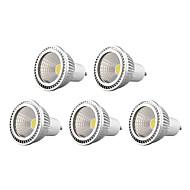 5W GU10 תאורת ספוט לד 1 COB 450 lm לבן חם / לבן קר / לבן טבעי עמעום AC 220-240 / AC 110-130 V חמישה חלקים