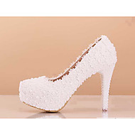 Women's Spring / Summer / Fall / Winter Heels Lace Wedding / Dress / Party & Evening Stiletto Heel Applique / Imitation Pearl / Flower