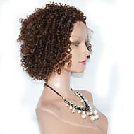"""10 """"-26""""브라질 처녀 머리 100 % 인간의 머리 레이스 가발 곱슬 머리 레이스 가발"""