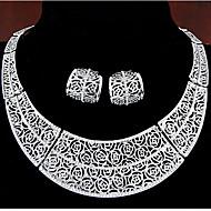 שרשרת / עגיל-נשים-וינטאג' / מסיבה(מצופה זהב ורד / מצופה כסף / אלוי / אבן חן מלאכותית)