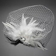 Voile de cage à oiseaux Casque Mariage / Occasion spéciale Plume / Cristal / Tulle Femme Mariage / Occasion spéciale 1 Pièce