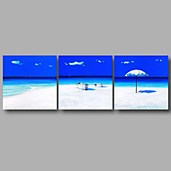 Ready to Hang Stretched Canvas Print Three Panels Wall Art Home Deco Summer Beach Sea Modern