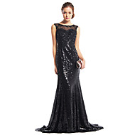 TS Couture® Formal Evening Dress Trumpet / Mermaid Scoop Sweep / Brush Train Sequined with Sequins