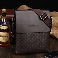 Men PU Baguette Shoulder Bag - Brown / Black