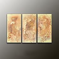 Ručně malované AbstraktníModerní Tři panely Plátno Hang-malované olejomalba For Home dekorace