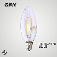 GMY Luzes de LED em Vela Decorativa E12 2W ≥200 LM 2700 K Branco Quente 2 COB 1 pç AC 110-130 V B