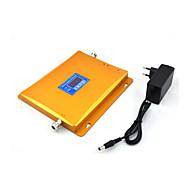 2g 3g mobiele telefoon signaal booster gsm 900mhz w-cdma umts 2100mhz signaal repeater versterker met voeding LCD display / gouden