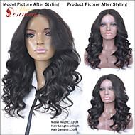 frente del cordón completo pelucas de cabello humano sin cola para las mujeres blancas virgen onda del cuerpo brasileño peluca llena del
