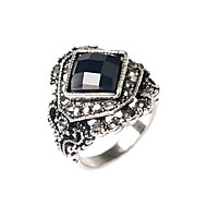 Women's Luxurious Palace Exaggerated Style Multi-Slice Gem Diamond Alloy Ring 03