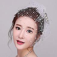 Damen Strass / Künstliche Perle / Netz Kopfschmuck-Hochzeit / Besondere Anlässe Kopfschmuck / Netzschleier 1 Stück