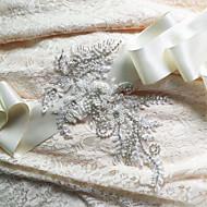 Faixa Cetim Faixas para Mulheres Casamento / Festa/Noite / Dia a Dia Paetês / Miçangas / Apliques / Pedraria