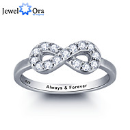 Noble Personalized Infinite Love Promise Zircon Stone Ring 925 Sterling Silver For Women