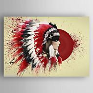 pintura al óleo de una mujer que llevaba gorra de lona pintados a mano Poeple se extendía enmarcado