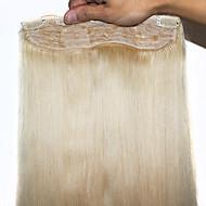 """Full End Virgin Remy Human Hair Clip In Hair Extensions #613 100g/Piece Straight Human Hair  Extensions 20"""""""
