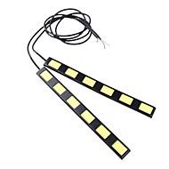2Pcs 18CM 12W COB 6 LED Car Daytime Running Light Bar DRL Driving Lamp(DC12V)
