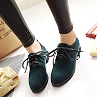 Women's Shoes Leatherette Chunky Heel Platform / Round Toe / Closed Toe Heels Office & Career / Dress / Casual Black