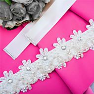 Satin Wedding / Party/ Evening / Dailywear Sash-Sequins / Beading / Appliques / Rhinestone Women's 98 ½in(250cm)Sequins / Beading /