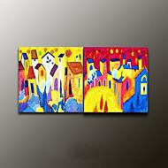 handgemalten Landschaft modernes Ölgemälde, Segeltuch zwei Platten