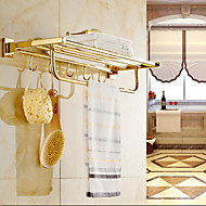 Contemporary Gold-Plated Brass Material Bathroom Shelf