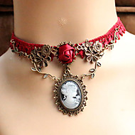 Women's Choker Necklaces Pendant Necklaces Tattoo Choker Gothic Jewelry Lace Tattoo Style Fashion Red JewelryWedding Party Halloween