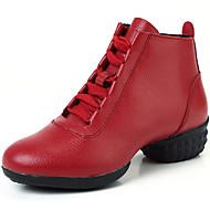 Zapatos de baile ( Negro / Rojo ) - Zapatillas de Baile - No Personalizables - Tacón Bajo